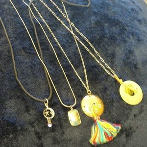 Necklace lot/4 PC mystic set silver/Jade?